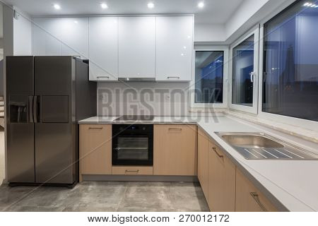 New kitchen interior in the house