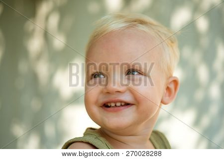 Cute And Carefree. Little Baby Happy Smiling. Health Is Real Beauty. Baby Boy Enjoy Happy Childhood.