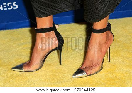 LOS ANGELES - NOV 17: India Osborne, shoe detail at the 2018 Emerald City Gala Visionary Awards Dinner at the Bel Air Country Club on November 17, 2018 in Los Angeles, California