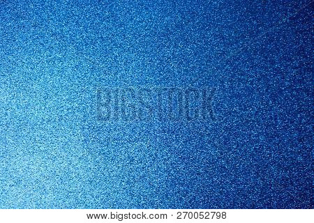 Texture Of Blue Shiny Beautiful Modern Shiny With Silver Sparkles Fashionable Glamorous Sky Color. T