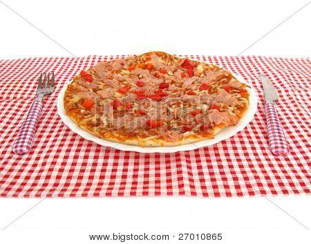 Pizza in restaurant