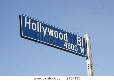 Hollywood Blvd Street Sign
