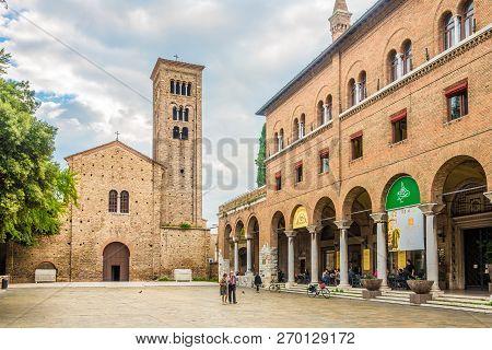 Ravenna,italy - September 24,2018 - Basilica Of San Francesco In Ravenna. Ravenna Is The Capital Cit