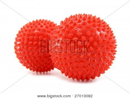 Balls red with pins