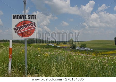 Mansfield, Oh, May 29, 2018, Filming Location For Shawshank Redemption, Along The Side Of Rural Coun