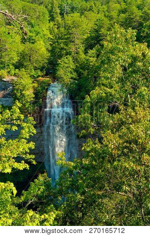 Fall Creek Falls In Eastern Tennessee, The Highest Free-fall Waterfall East Of The Mississippi