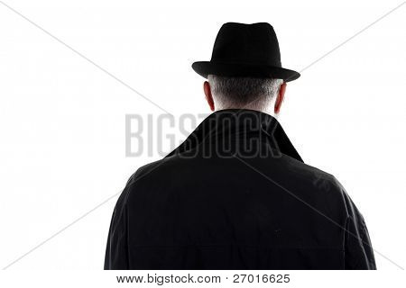 Man with hat from behind