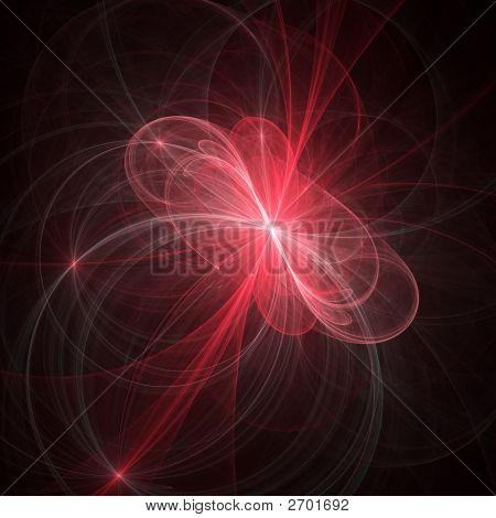 poster of abstract chaos alien rays on dark background