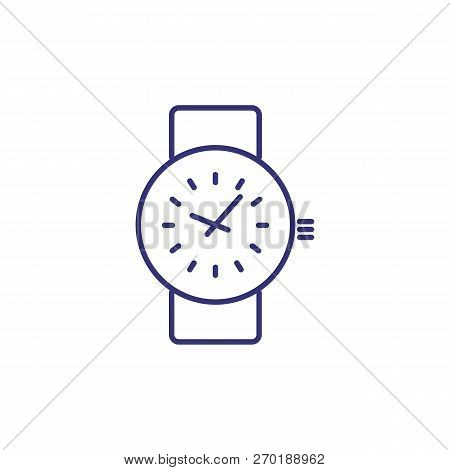Wristwatch Line Icon. Wrist Watch, Accessory, Clock. Time Concept. Can Be Used For Topics Like Busin