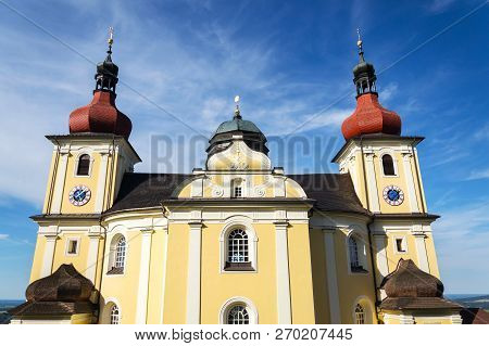 Church Of Our Lady Of Good Counsel In Dobra Voda, Czech Republic, Sunny Summer Day