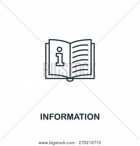 Information Icon. Outline Style Thin Design From Business Icons Collection. Pixel Perfect Simple Pic