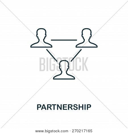 Partnership Icon. Outline Style Thin Design From Business Icons Collection. Pixel Perfect Simple Pic