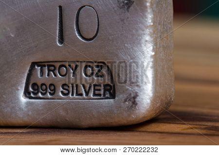 Poured Silver Bar