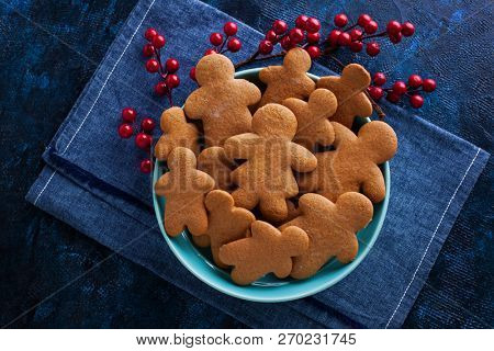 delicious homemade gingerbread cookies - Christmas time