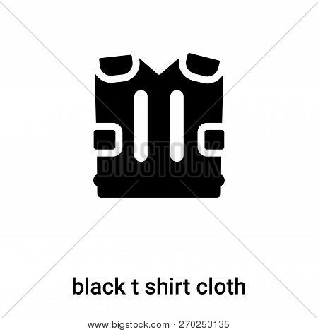 Black T Shirt Cloth Icon Vector Isolated On White Background, Lo
