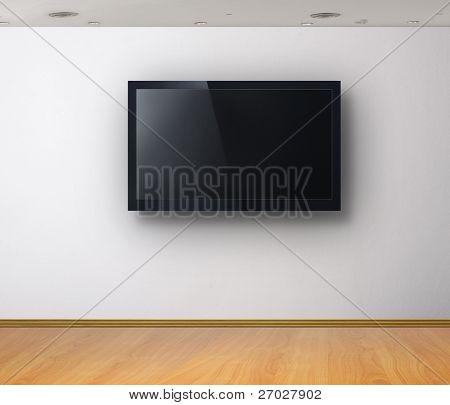 3D TV in camera bianca