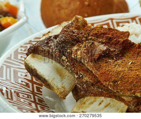 Crispy Tadyang Ng Baka,  Deep-fried  Beef Ribs, Filipino Cuisine, Traditional Assorted Dishes, Top V