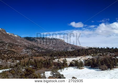Colorado Plateau Mountains In Snow