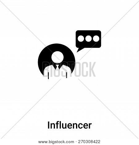 Influencer Icon Vector Isolated On White Background, Logo Concep