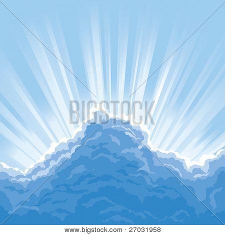 Sun Behind Clouds, raster version