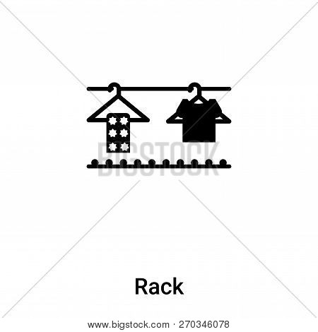 Rack Icon Vector Isolated On White Background, Logo Concept Of R