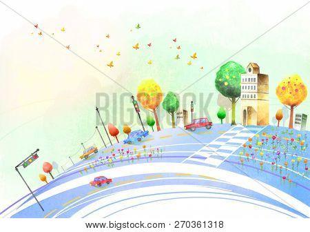 Road at City