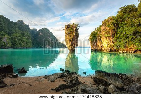 James Bond Island, Phuket Thailand Nature. Asia Travel Photography Of James Bond Island In Phang Nga