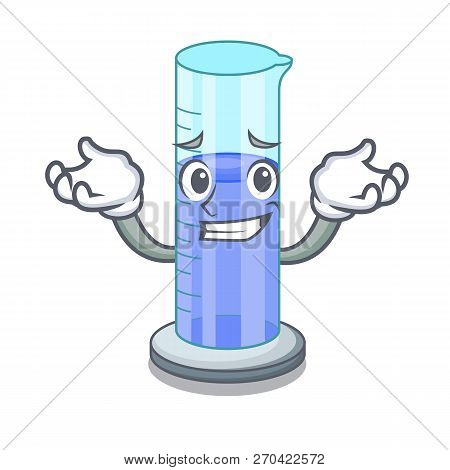 Grinning Graduated Cylinder Icon In Outline Character