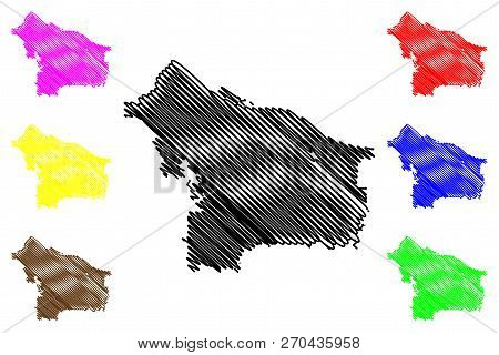 Portland City ( United States Cities, United States Of America, Usa City) Map Vector Illustration, S