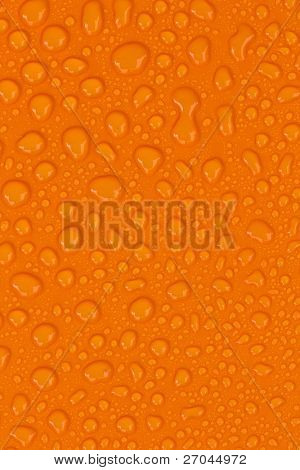 water-drops on Orange