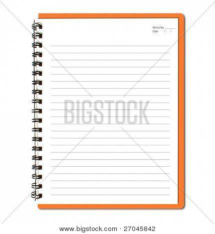 Orange notebook (blank paper)