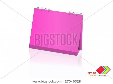A set of colorful calendar with blank space. Vector illustration. (pink)