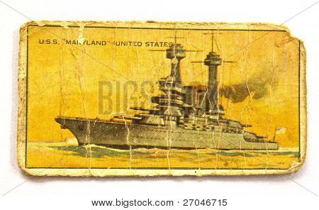 UNITED STATES OF AMERICA - CIRCA 1970: A Postcard printed in the United States shows image of Maryland Ship, circa 1970