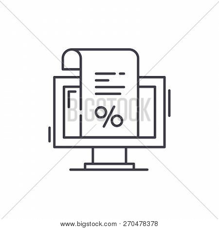 An Invoice For Payment Line Icon Concept. An Invoice For Payment Vector Linear Illustration, Symbol,