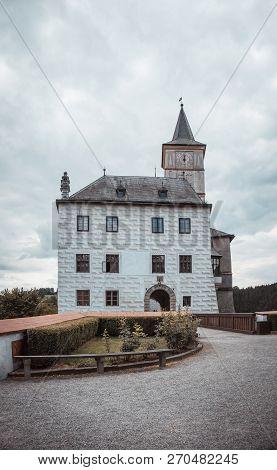 Small Castle Rozmberk On South Of Czech Republic