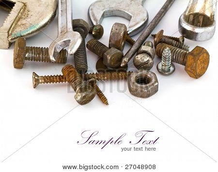 A set of tools - isolated on white background.