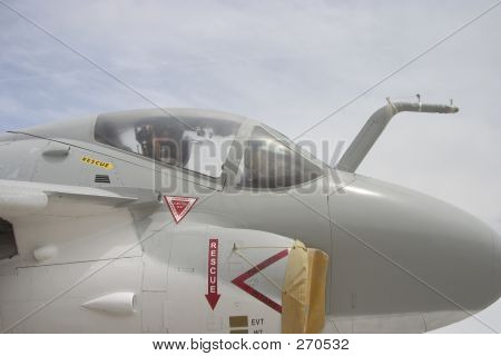 the canopy of an navy jet. poster