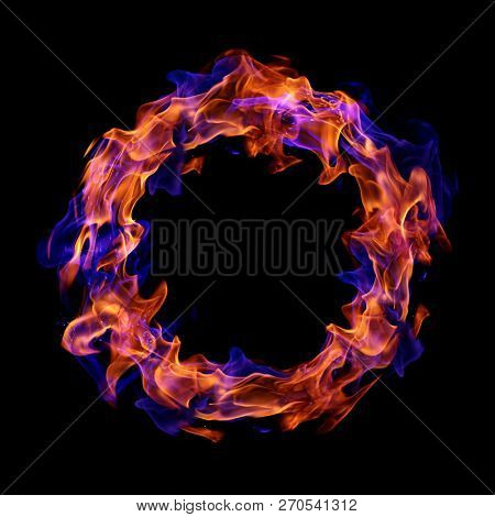 Fire ring on black background