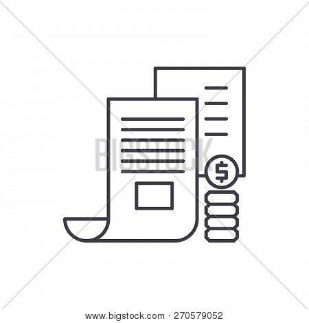 Investor Memorandum Line Icon Concept. Investor Memorandum Vector Linear Illustration, Symbol, Sign