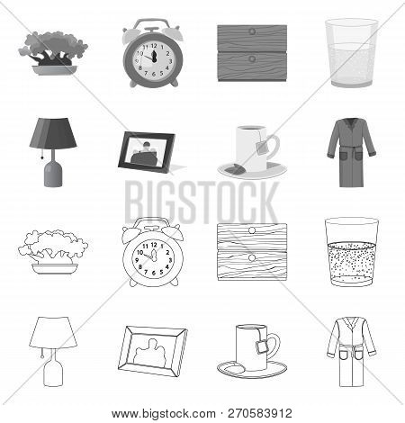 Isolated Object Of Dreams And Night Symbol. Set Of Dreams And Bedroom Stock Symbol For Web.