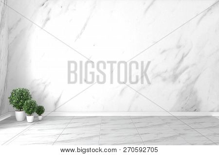 Granite Room Interior - Empty Room Of Natural Stone Granite Wall And Tiles Floor Stone Granite, Empt