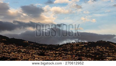 View Over The Hills Of Funchal, Madeira Island, Portugal.