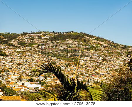 View Over The Hills Of Madeira Island.
