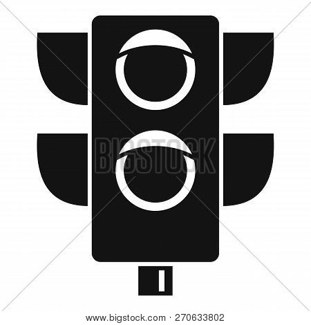 Pedestrian Semaphore Icon. Simple Illustration Of Pedestrian Semaphore Vector Icon For Web Design Is