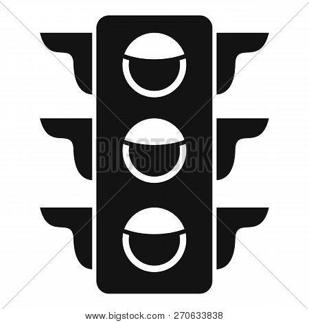 Crosswalk Semaphore Icon. Simple Illustration Of Crosswalk Semaphore Vector Icon For Web Design Isol