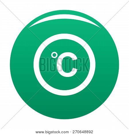 Celsius Icon. Simple Illustration Of Celsius Vector Icon For Any Design Green