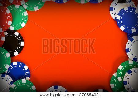 frame of casino chips