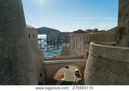 Beautiful Historic Center Of Dubrovnik In Croatia, Famous Historic Destination