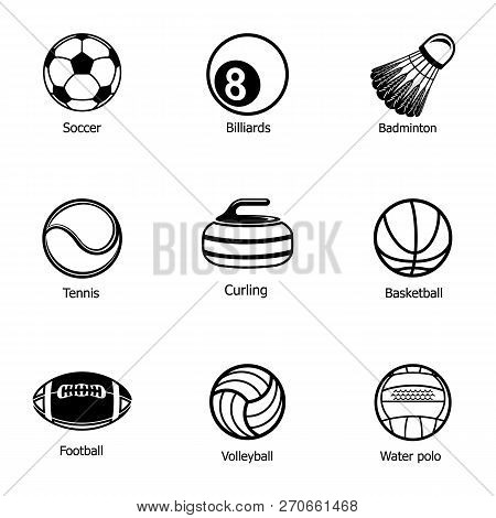 Orb Icons Set. Simple Set Of 9 Orb Vector Icons For Web Isolated On White Background