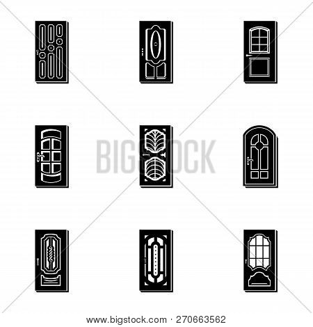 Portal Icons Set. Simple Set Of 9 Portal Vector Icons For Web Isolated On White Background